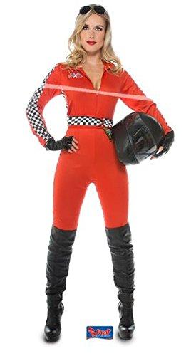 Folat 21942 -Damen Rennen Sexy Jumpsuit, (Rennen Kostüme)