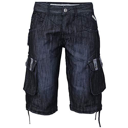 6b2318dfec Denim Crosshatch Pantalones Cortos Cargo de hombre Vaqueros Combat Jeans de  Verano Casual