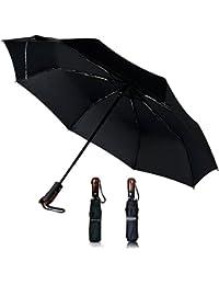Mincoso Paraguas Plegable Automático Isotoner con Apertura y Cierre de Viaje Compacto Resistente a Viento Sólido