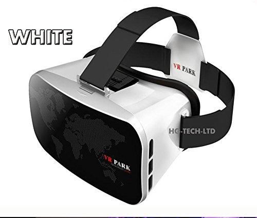 UrChoiceLtd®2017 Neue virtuelle Wirklichkeit VR PARK V3 3D-Phone TV Video Gläser + Bluetooth Gamepad für 4 - 6 Zoll Smartphone (weiße)