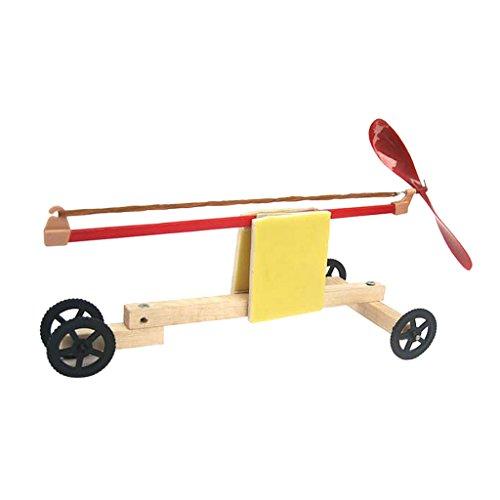 MagiDeal Set T0801 Gummiband-Rennwagens DIY Montage Spielzeug