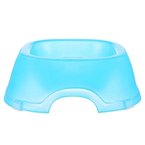 Plastic Scrub rutschfeste Single Bowl Katze und Hundefutter Schüssel Trinkschale Heimtierbedarf (blau) -