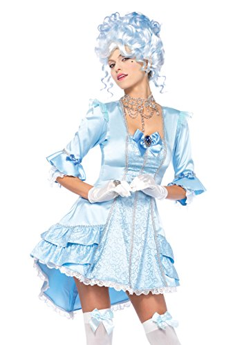 eluxe Versailles Beauty, Damen Fasching, L, blau ()