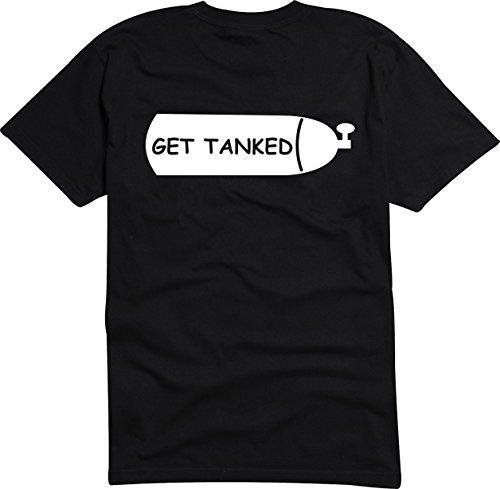 T-Shirt Herren - Get Tanked Schwarz