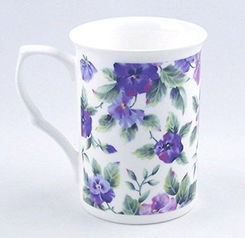 Pansy Chintz (Fine English Bone China Mug - Viola or Pansy Chintz - Adderley China of England by Adderley Find China of England)