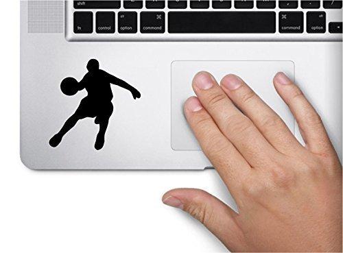 SUPERSTICKI Basketball Player Symbol Decal Funny Laptop Skin MacBook Trackpad Keypad Sticker Window, Decal Sticker Vinyl Car Home Truck Window Laptop ca. 20cm Aufkleber Autoaufkleber Wandtattoo