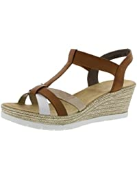 Rieker Wedge Heel Platform Slingback Sandals 61916 31