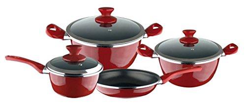 Magefesa 01107822 - Batería de cocina, color rojo