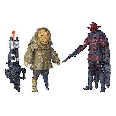 Preisvergleich Produktbild Hasbro B5896 - Star Wars - Das Erwachen der Macht - Figuren Doppelpack - Sidon Ithano & First Mate Quiggold (Gr. 9 cm) [UK Import]