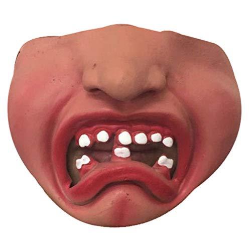 LCLrute Halloween Lustige große LipsHair Maske, lustige Kostüm-Partei-Gesichtsmaske, bequem und atmungsaktiv