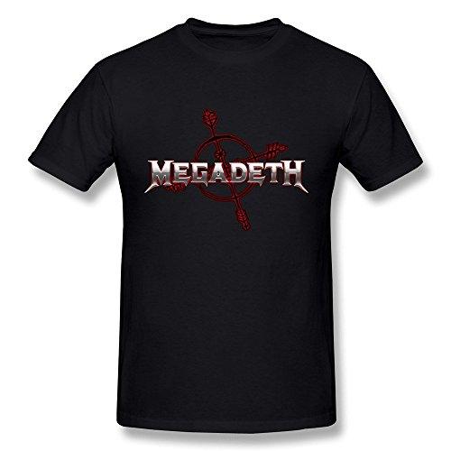 Hsuail Hombres de Megadeth Logo Camiseta - Multi - L