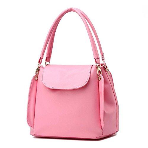 Hqyss Borse Da Donna Pu Leather Ol Simple Three Layer Borsa A Tracolla Per Donna Borsa A Tracolla Rosa