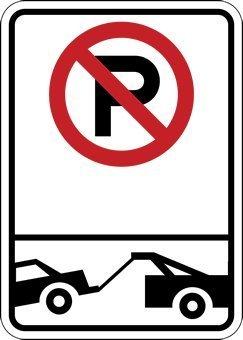 AmyyEden Parkplatzschilder mit Parkplatz-Symbol und Abschleppsymbol, 20,3 x 30,5 cm