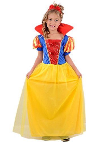 Wicked Fun UK Princess Kinder Snow Girl Kostüm (Wicked Kostüme Aus)