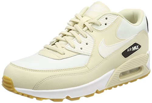Nike Damen Wmns Air Max 90 Sneaker, Beige (Fossil/Sail-Black-Gum Light Brown 325213-207), 38.5 EU (Nike Frauen-fußball-schuhe)