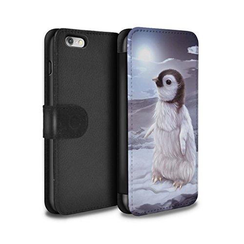 Officiel Elena Dudina Coque/Etui/Housse Cuir PU Case/Cover pour Apple iPhone 6 / Oui Maman/Lion/Petit Design / Les Animaux Collection Le Voyageur/Manchot
