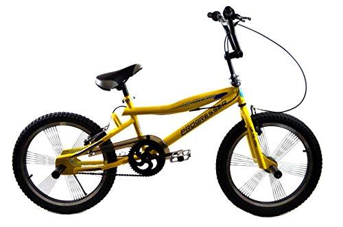 BMX BIKE 20'' FREESTYLE 4 x PEGS Jugend Fahrrad PROGRESSER GROSSE AUSWAHL Gelb