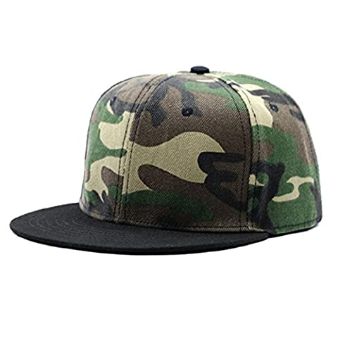 Fashionable Cotton Baseball Cap - WinCret Outdoor Camouflage Unisex Adjustable Leisure Hip Hop Cap Flat Hat for Male and