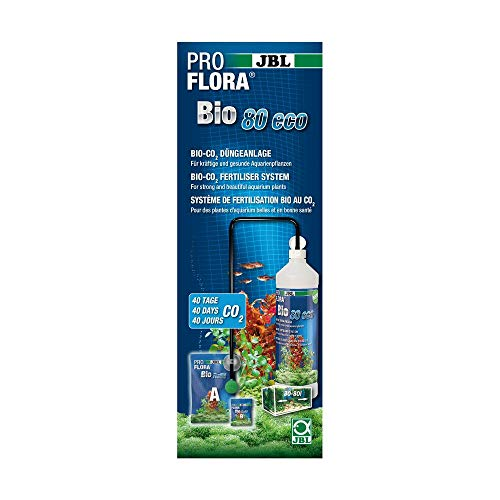 JBL proflora bio80Eco 264449Bio düngea de Bombeo de CO2, para acuarios de 12-80L