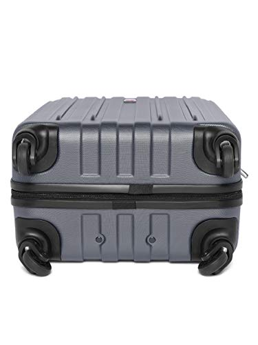 Best swiss gear bags in India 2020 Swiss Gear Unisex Rubber and ABS Expandable Hardside 19 Inches Spinner Luggage Suitcase (Gray) Image 5
