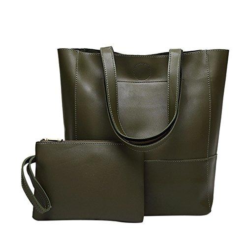 66e2b6311d feiXIANG Borsa Borse Donna Elegante tracolla + Messenger Bag Set di 2 pezzi  Borse Hobo Donna