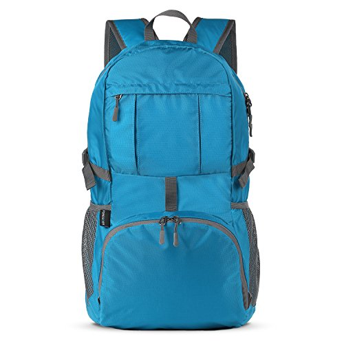 Foregoer 30l ultra zaino leggero idrorepellente nylon pieghevole daypack per viaggio hiking - blu