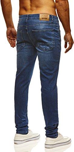 LEIF NELSON Herren Hose Jeans Jeanshose Freizeithose Denim LN720BL Blau