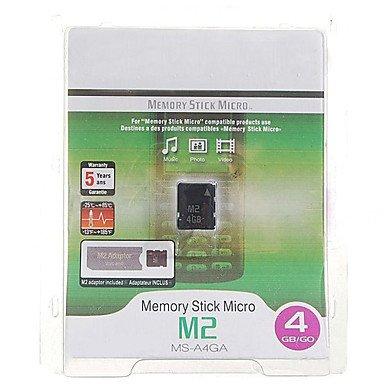 Bright- Memory Stick Micro M2 Flash-Speicherkarte mit Pro Duo Adapter (4GB) -