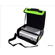C y G XBox 360 Green & Black Deluxe Console Carry Case bolsa