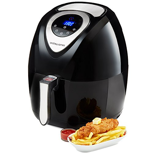 41ZxsiH1lPL. SS500  - Andrew James Digital Air Fryer Cooker for No Oil Healthy Chips & Meals   Large Capacity 3.2L Family Size Basket   Hot Air Health Fryer with Recipes Included   1400W   Black