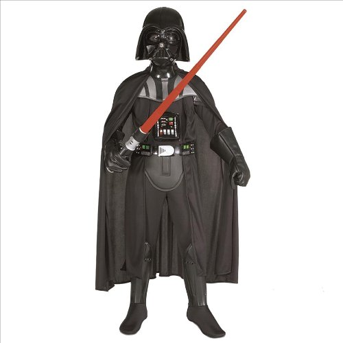 Kinder Stern Kostüm Uk (Star Wars Deluxe Darth Vader Kostüm für Kinder inkl. Maske,)