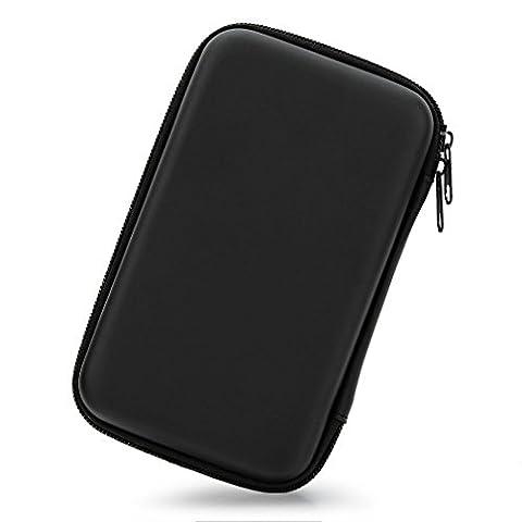 3,5 Zoll EVA Stoßfest Wasserdicht Festplatte, der Travel Case für Externe Festplatte (tragbar, GPS Kamera und externer Akku Pack, Tragbares Ladegerät, Tasche (Schwarz)