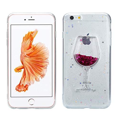 Misstars Glitzer Flüssig Hülle für iPhone 7 Plus / 8 Plus (5,5 Zoll), Luxus Bling Sterne...
