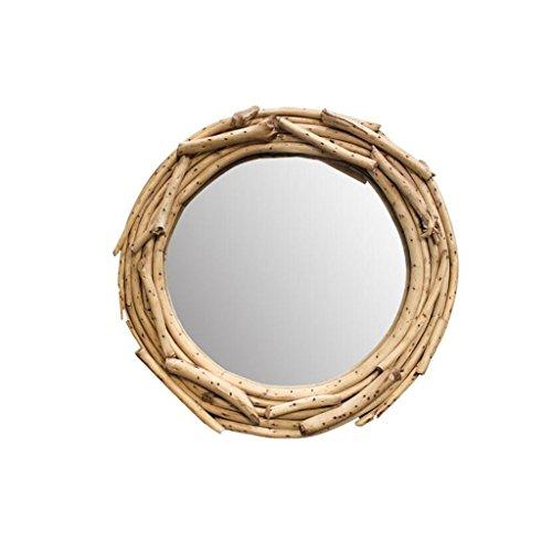 LEI ZE JUN UK- Badezimmerspiegel Dressing Mirror Kosmetikspiegel Creative Tree Dekorationen Spiegel Hanging Wall Mirror Wandspiegel (Spiegel Sunburst Holz)