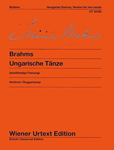 Ungarische Tänze: Zweihändige Fassung. Nach der Erstausgabe. Klavier. (Wiener Urtext Edition)