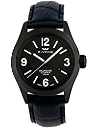 Glycine Incursore Automatic PVD Coated Steel Mens Watch Black Dial Calendar 3874.99T LBK9