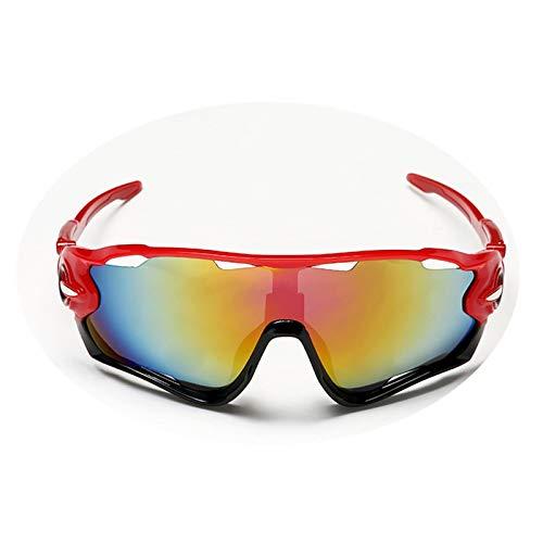 DOLOVE Brille Motorrad Herren Sonnenbrille Schutzbrille Winddicht Outdoor Rot Schwarz