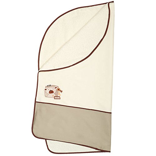 Arrullo para bebé pique rizo (80x80 cm) BEAR Lino