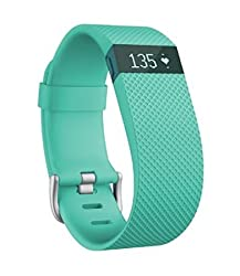 Fitbit Charge Heart Rate and Activity Wristband, Large (Teal)
