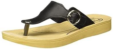 FLITE Women's Black Slippers - 5 UK/India (38 EU)(PUL061L)