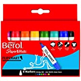 Berol Flipchart Marker Chisel Nib 2mm/5mm - Assorted Colours (Pack of 8)