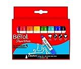 Berol S0377960 Flipchart-Marker (auf Wasserbasis, Dry Safe, Keilspitze) 8 Stück farblich sortiert