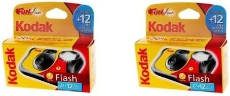 Kodak Fun Saver Disposable Single Use Camera with Flash - 39 Pictures / Exposures - EXTRA VALUE TWIN PACK