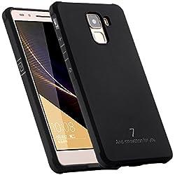 Faliang Coque Huawei Honor 7, Business Series Shockproof Housse Étui Très Mince Doux Silicone Quatrième de Couverture Cas pour Huawei Honor 7 (Noir)