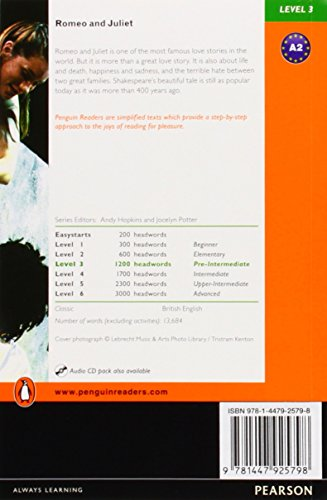 Penguin Readers 3: Romeo and Juliet Book & MP3 Pack (Pearson English Graded Readers)