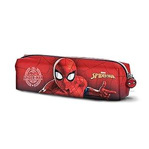 Karactermania Spiderman Spiderweb-Quadrat Federmäppchen Estuches 22 Centimeters Rojo (Red)