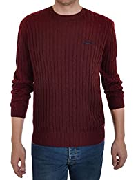 Slazenger Nicklaus Mens Crew Neck Chunky Cable Knit Jumper