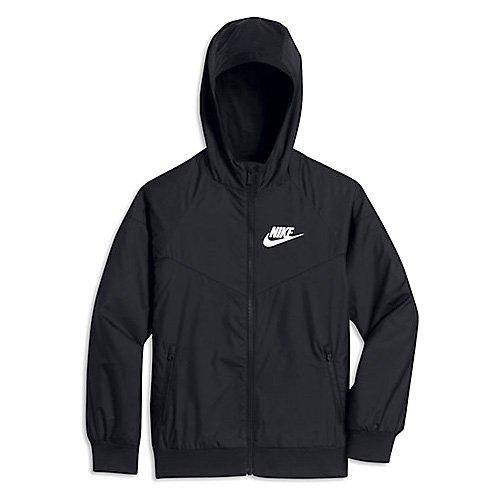 Nike B Nsw WR Jkt HD Veste pour garçon, Noir (Black / Black / Black / White), XS