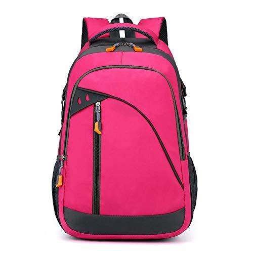 youcai Backpacker Rucksack für Damen Herren Freizeitmode für Männer und Frauen mitGroßer Kapazität Outdoor Sport Camping Ausflug Rot Kletterrose 30 Liter