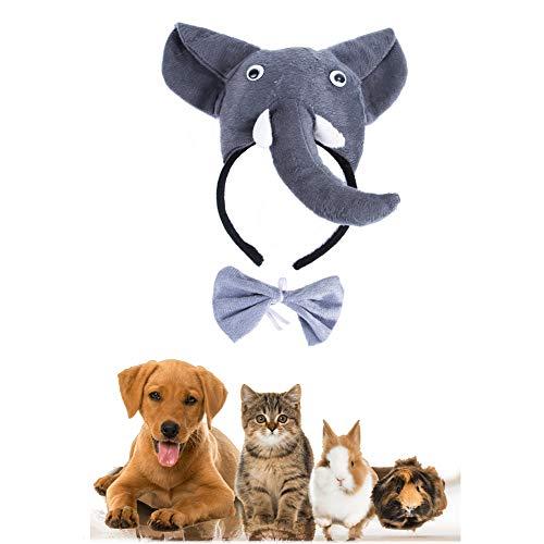 Morbuy Reizende Katzenkostüm Hunde Haustier Kleidung Stirnband Kostüme, Halloween Xmas HundeKostüm Hundebekleidung Kostüme Kleidung Katze lustiges Kleid Cosplay (Elefant)